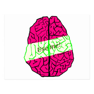 Use your brain! postcard