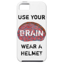 USE YOUR BRAIN. WEAR A HELMET. iPhone SE/5/5s CASE