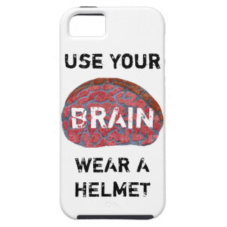 USE YOUR BRAIN. WEAR A HELMET. iPhone SE/5/5s CASE