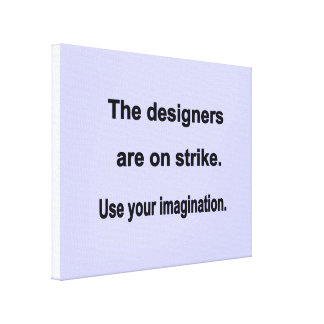 Use Your Imagination Design - Blue background Canvas Print