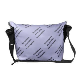 Use Your Imagination Design - Blue background Messenger Bag