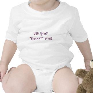 use your indoor voice baby bodysuit