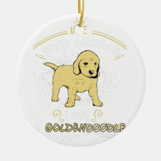 Use Your Noodle, Love a Goldendoodle Ceramic Ornament