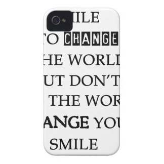 use your smile to change the world but don't let t iPhone 4 cover