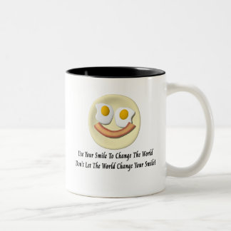 Use Your Smile To Change The World Two-Tone Coffee Mug