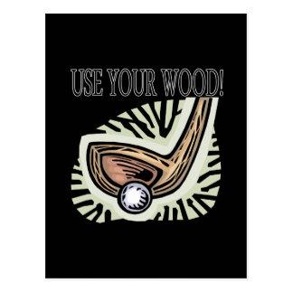 Use Your Wood Postcard
