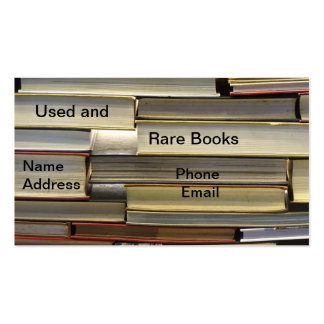 Used and Rare Books Business Card