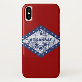 Used Arkansas Flag iPhone X Case