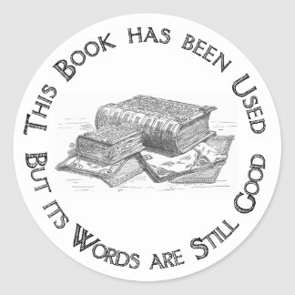 Used Book Gift Bookplate Stickers