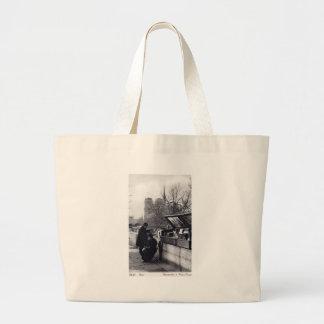 Used Book Sellers, Notre Dame Paris Jumbo Tote Bag