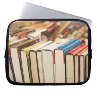 Used books at a rummage sale computer sleeve