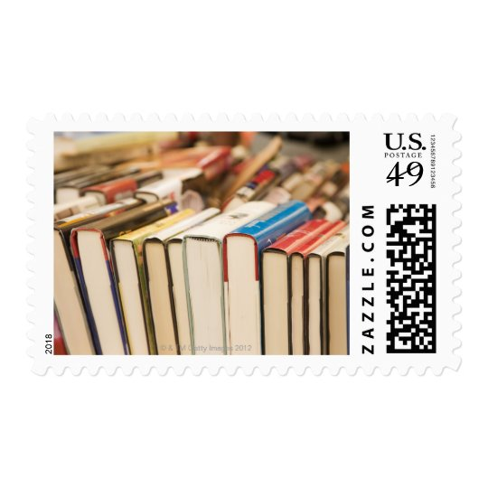 Used books at a rummage sale postage