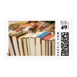Used books at a rummage sale stamp
