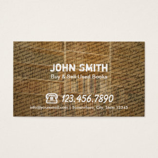 Used Books Buy & Sell Business Vintage Business Card