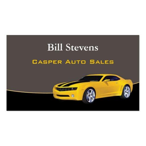 Used Car Dealer Business Card Design