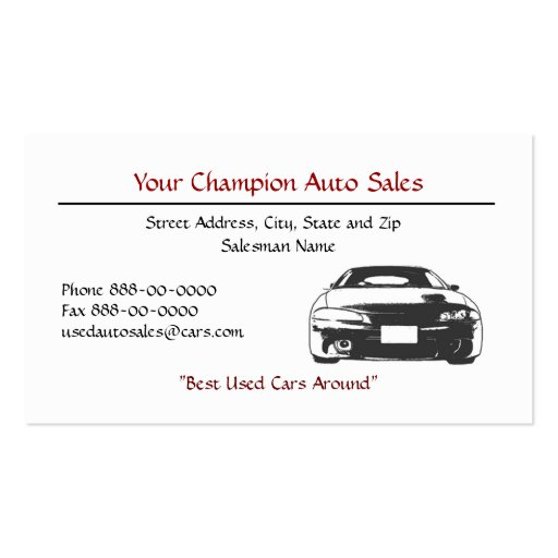 Automotive business card templates page21 bizcardstudio for Auto sales business cards