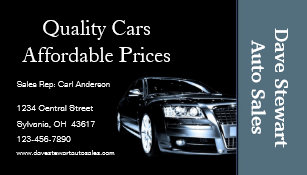 Used car dealer business cards zazzle used car dealer business card reheart Image collections