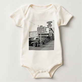 Used Car Lot Vintage Hollywood California Baby Bodysuits