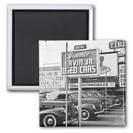 Used Car Lot Vintage Hollywood California Magnets