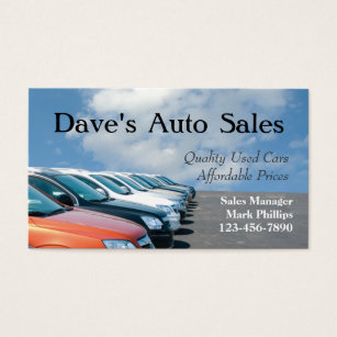 Used cars business cards templates zazzle used car salesman business card reheart Choice Image