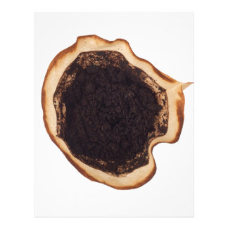 Used coffee grounds letterhead