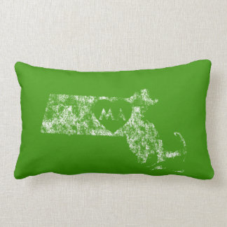 Used I Love Massachusetts State Lumbar Pillow