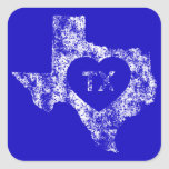 Used I Love Texas State Stickers