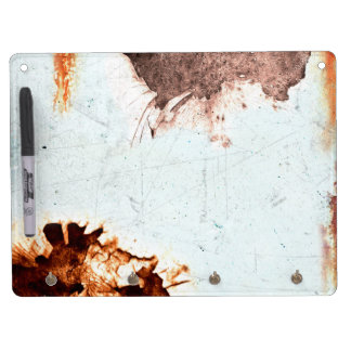 used look dry erase board with keychain holder