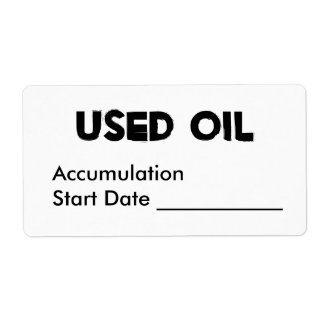 Used Oil Label