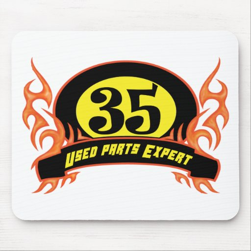 Used Parts 35th Birthday Gifts Mousepads