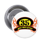 Used Parts 35th Birthday Gifts Pinback Button