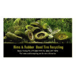 Used Tires Recycling Dump or Depot Center Double-Sided Standard Business Cards (Pack Of 100)