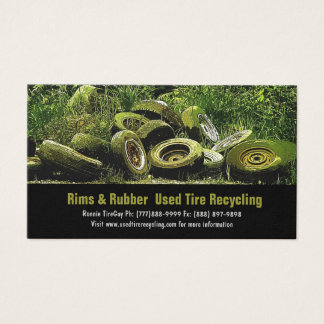 Used Tires Recycling Dump or Depot Center Business Card