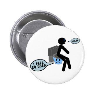 Used Toilet Pinback Button