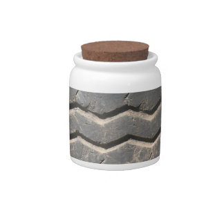 Used Truck Tire Decorative Ceramic Jar With Lid Candy Jars