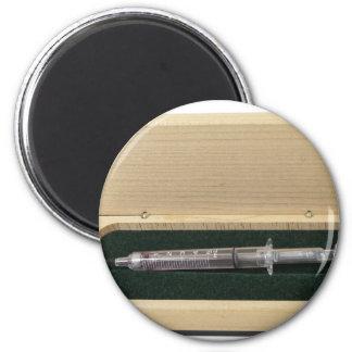 UsedSyringeWoodenBox070111 2 Inch Round Magnet