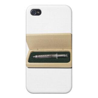 UsedSyringeWoodenBox070111 iPhone 4 Cover