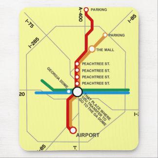 Useful Atlanta Subway Map Mouse Pad
