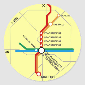 Useful Atlanta Subway Map Round Sticker