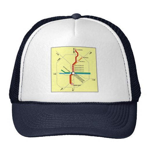 Useful Atlanta Subway Map Trucker Hat