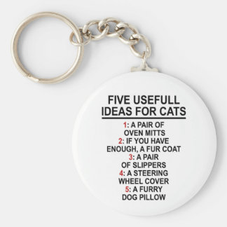 Useful Cat Ideas Keychain