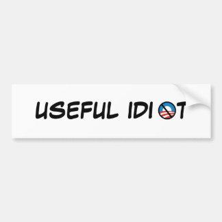 Useful Idiot Bumper Sticker Car Bumper Sticker