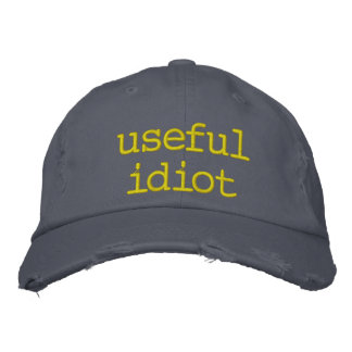 useful idiot embroidered baseball hat