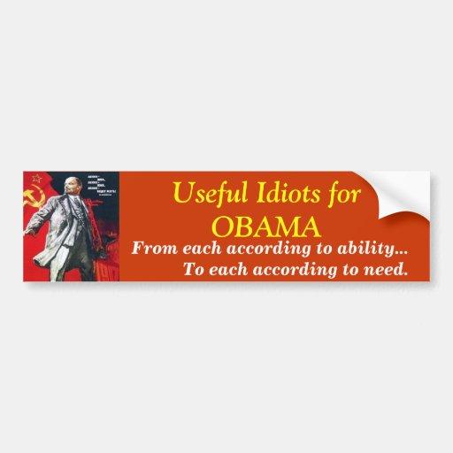 Useful Idiots for OBAMA, Bumper Sticker