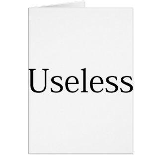 Useless Card