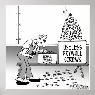 Useless Drywall Screws Poster