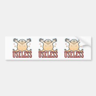 Useless Fat Man Bumper Sticker