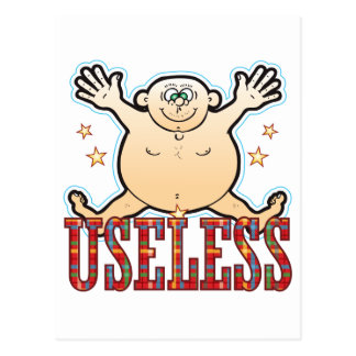 Useless Fat Man Postcard