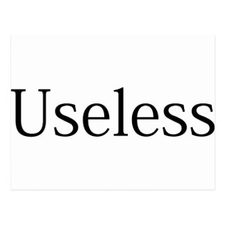 Useless Postcard
