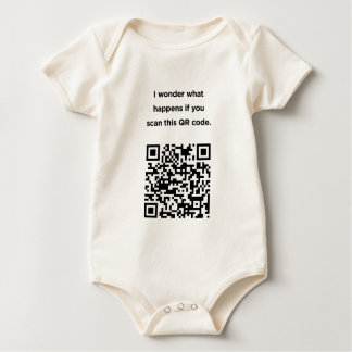 Useless QR Code: I Wonder... Baby Bodysuit